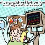 Vol verwachting klopt ons hart cartoon campagne Orgaandonatie van 2MH.nl voor Actieve DonorRegstratie