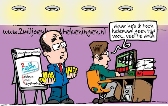 Op de zaak campagne Orgaandonatie van 2MH.nl voor Actieve DonorRegstratie