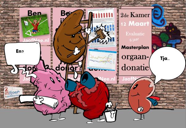 Orgaandonatie: ook na 6 jaar MASTERPLAN zijn de cijfers helaas niet positief genoeg.